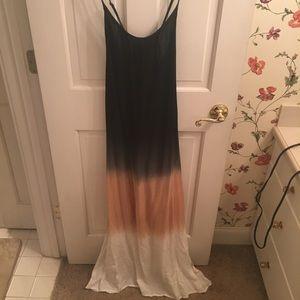 Tie dye style maxi dress